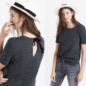 Madewell Strutted Sweater Tee in Dark Grey